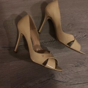 Manolo Blahnik Peep Toe Sandals, 39